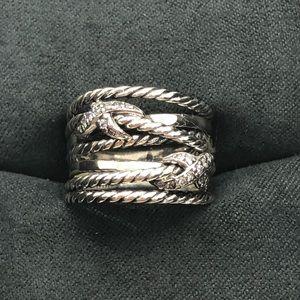 David Yurman Diamond X Crossover Ring